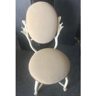 Arthur Court Mid-Century Design Faux Moose Antler Chair Preview