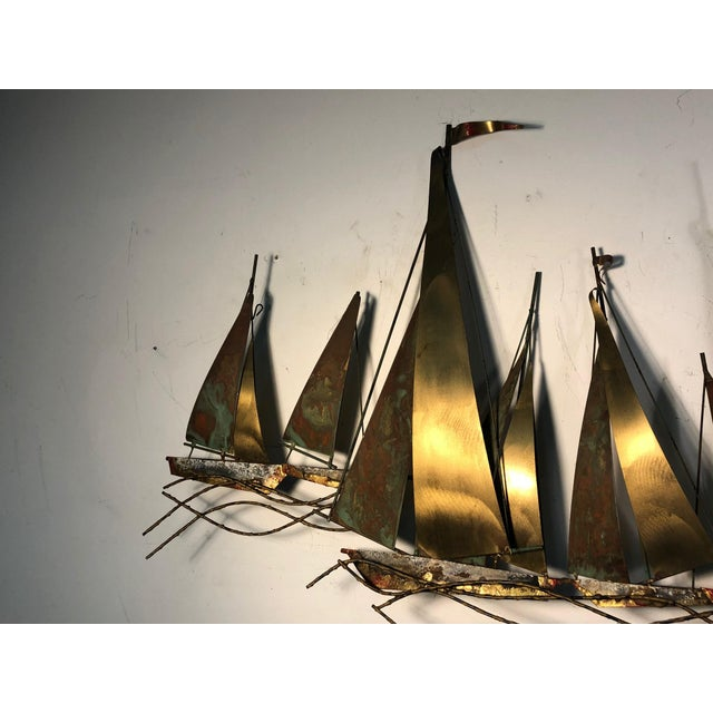 1970s 1970s Large Scale Boat Wall Sculpture by Curtis Jere For Sale - Image 5 of 9