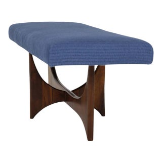 Adrian Pearsall Sculptural Walnut Bench For Sale