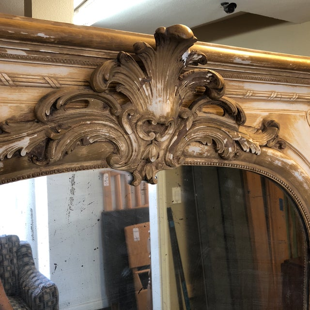 Antique French Wood & Plaster Mirror For Sale - Image 9 of 11