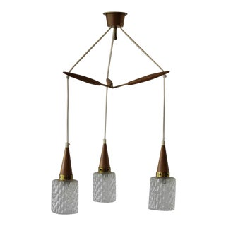 Mid 20th Century Danish Modern Chandelier For Sale