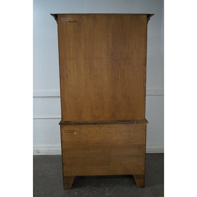 Ethan Allen Ethan Allen Circa 1776 Collection Maple China Cabinet Cupboard For Sale - Image 4 of 10