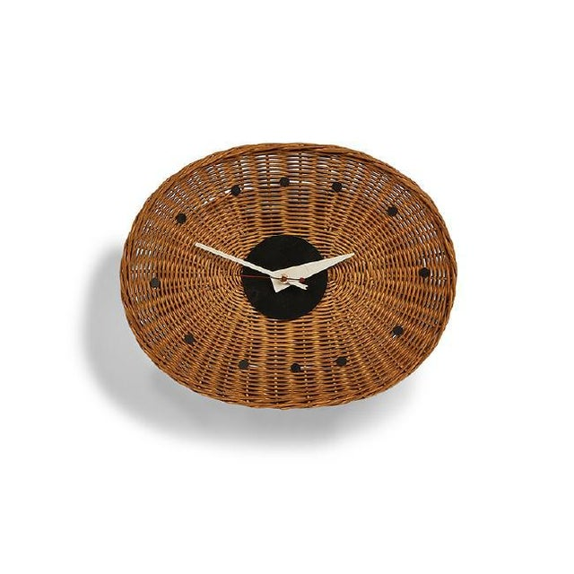 Contemporary George Nelson Associates Basket Clock, for Howard Miller, Circa 1950 For Sale - Image 3 of 3
