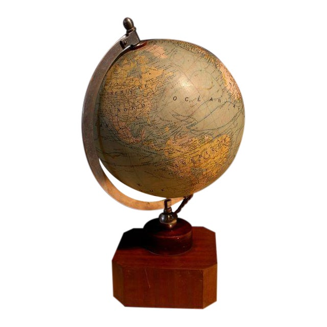 A Illuminated French Terrestial Globe - Image 1 of 8