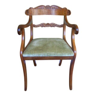 Early 19th C Pair of Regency Armchairs, signed S Jamar