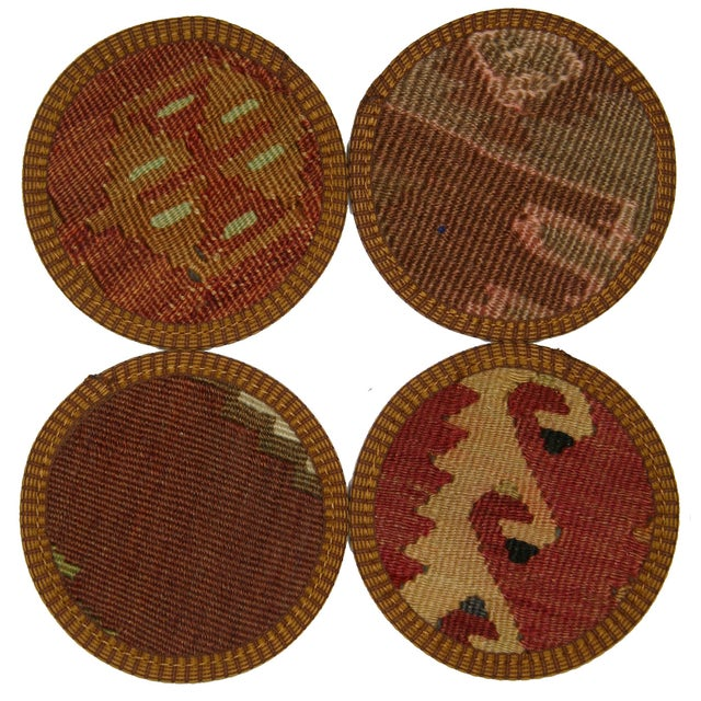 Turkish Kilim Coasters, Antalya - Set of Four - Image 1 of 2