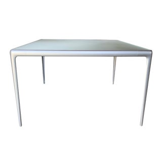 Contemporary B&b Italia Early Mirto Indoor Mirrored Glass Square Dining Table For Sale