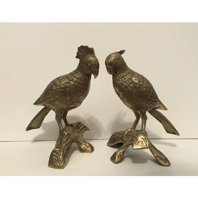 Brass Cockatoo Figurines - A Pair - Image 2 of 3