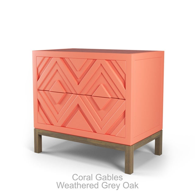 Not Yet Made - Made To Order Susana Side Table - Coral Gables, Weathered Gray Oak For Sale - Image 5 of 5