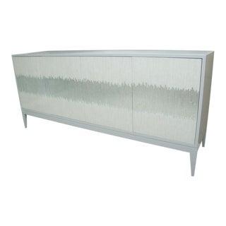 4-Door Buffet With Mosaic Glass Doors For Sale