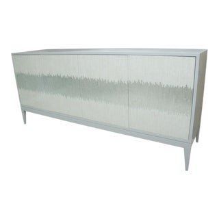 Contemporary Mosaic Glass 4 Door Buffet For Sale