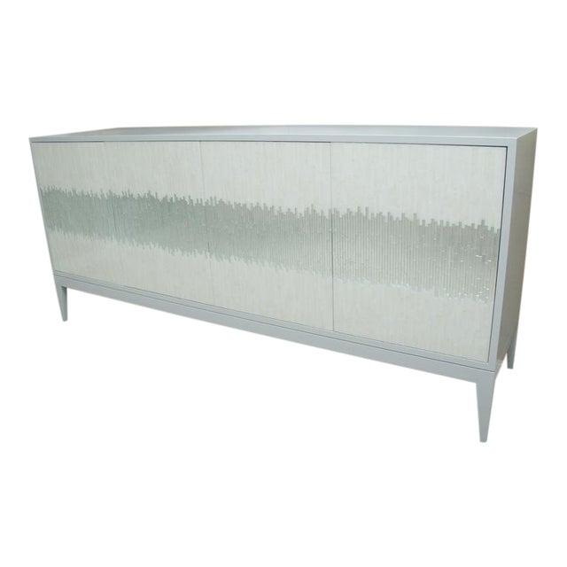Contemporary Mosaic Glass 4 Door Buffet For Sale