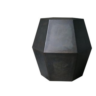 Costantini Tamino Hex Modern Side Table in Steel or Parchment For Sale