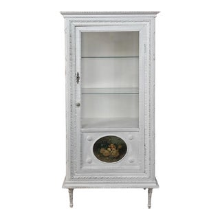 19th Century French Louis XVI Painted Vitrine For Sale