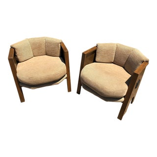 "Adrian Pearsall ""Strictly Spanish"" Club Chairs - a Pair"