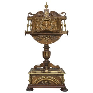18th Century Spanish Louis XV Lectern / Lutrin Ornate Multiple Carved Heads For Sale