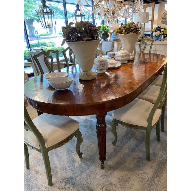 Italian Italian Mahogany Dining Table with Four Leaves For Sale - Image 3 of 6
