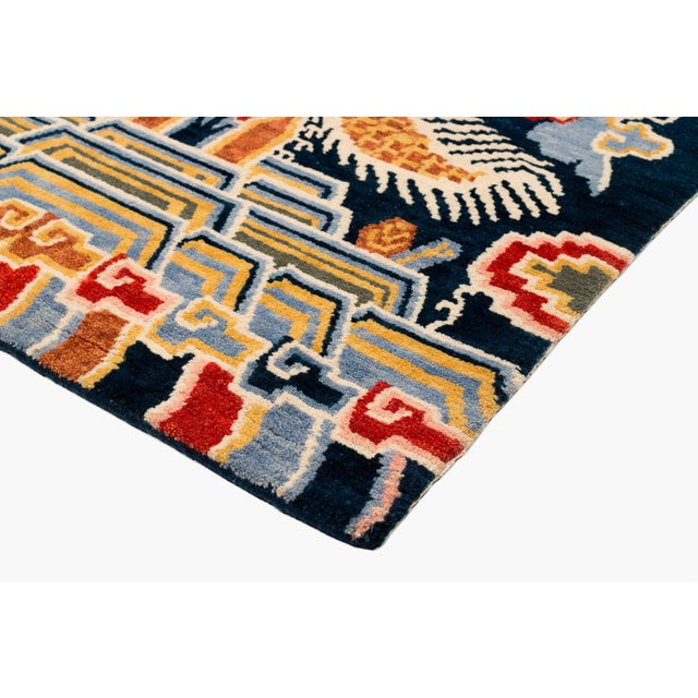 Tibetan Dragon Area Rug-3′ × 6′ For Sale In New York - Image 6 of 8
