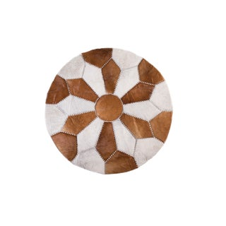 "Cowhide Patchwork Area Rug - 5'9"" x 5'9"" For Sale"