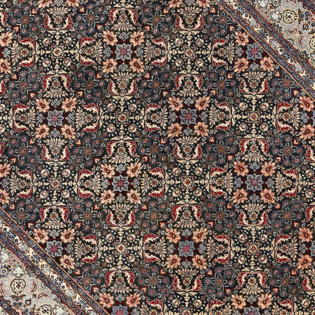 "Vintage Persian Mashad Wool Rug - 8'5"" X 11'2"" For Sale - Image 5 of 7"