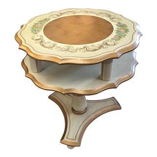 1930s Hollywood Regency Katherine Henrick Cream Wood Side Table