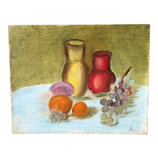 1960s Bright Fruit Still Life Painting For Sale