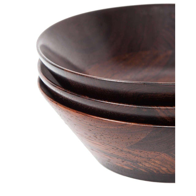Trio of Danish Rosewood Bowls by Laurids Lonborg for Illums Bolighus - Image 9 of 9