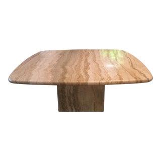 Mid-Century Travertine Coffee Table