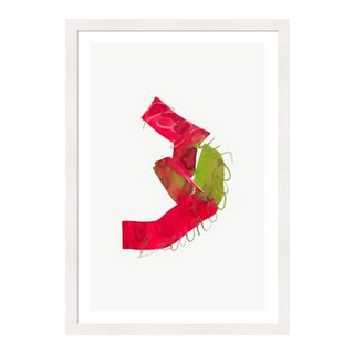 Framed in White 'Color Study 22' Watercolor Print on Textured Paper by Encarnacion Portal Rubio For Sale