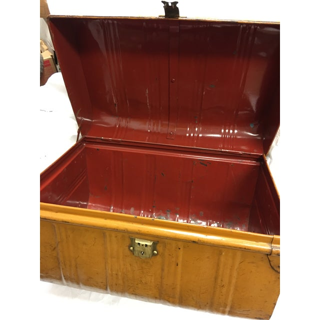 Old Victorian English Tin Trunk - Image 6 of 6