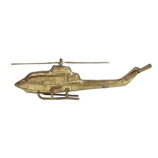 Vintage Brass Helicopter For Sale