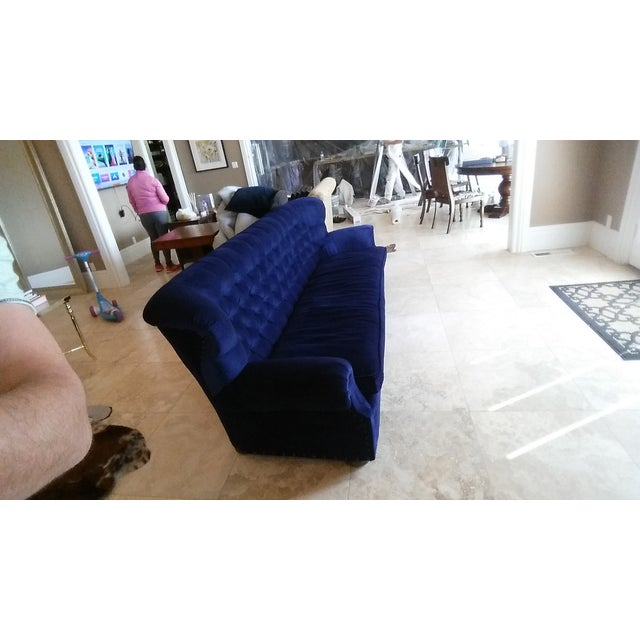 Restoration Hardware Churchill Blue Velvet Sofa - Image 4 of 7
