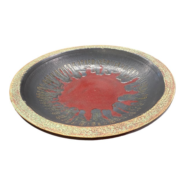 1970s Mid-Century Modern Decorative Clay Bowl For Sale