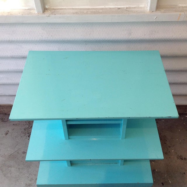 Mid-Century High Gloss Chalk Painted Cart - Image 6 of 11