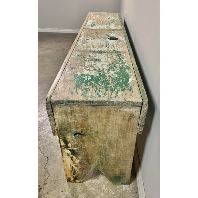 Gustavian (Swedish) 19th C. Swedish Painted Work Style Bench For Sale - Image 3 of 11