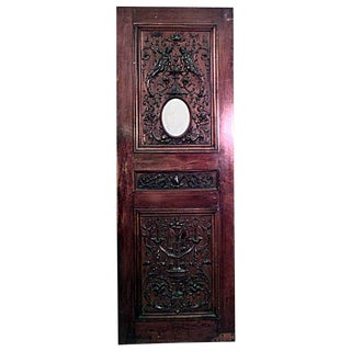 Italian Renaissance Carved Walnut Door For Sale