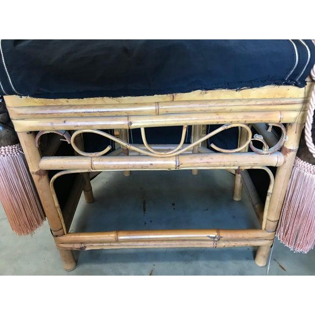 Thomasville Brighton Pavillion Vintage Rattan Chair - Set of Four For Sale - Image 10 of 13