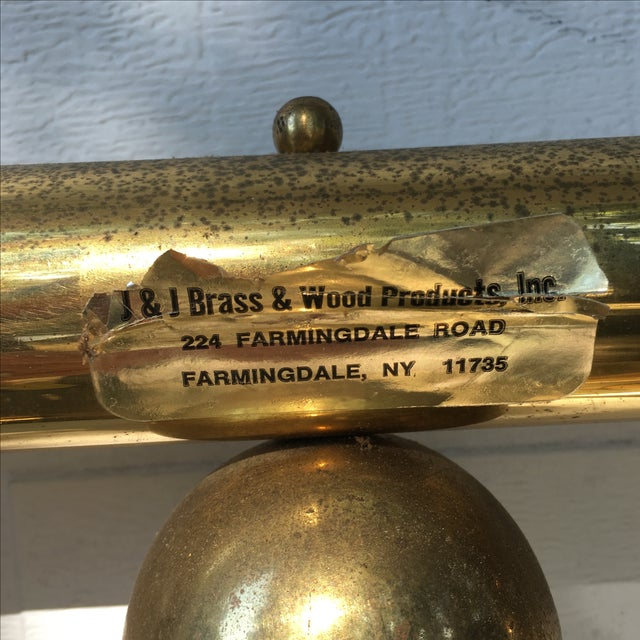 Metal Vintage Twin Brass Headboard & Footboard For Sale - Image 7 of 10