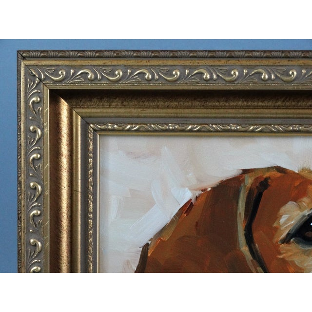 Beagle Dog Oil on Canvas Portrait Painting - Image 7 of 7