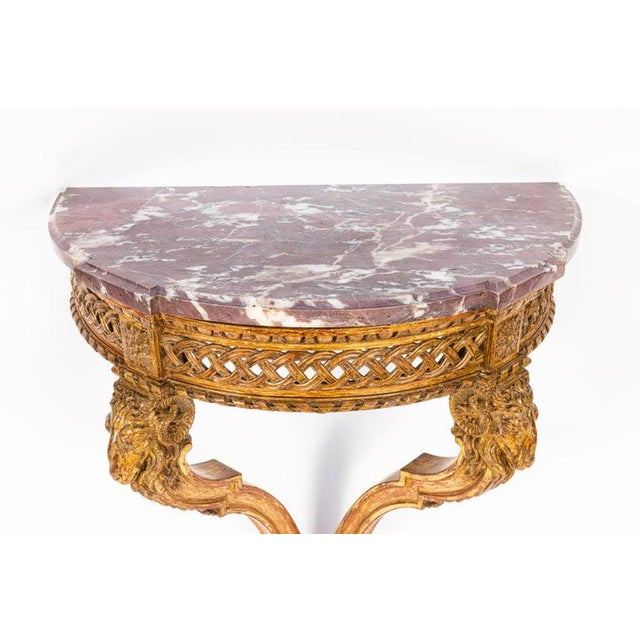 19th Century French Giltwood Wall Mounted Console For Sale - Image 10 of 11