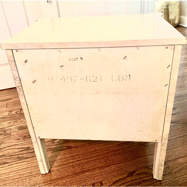 "Light Yellow Henry Link ""Bali Hai"" Two Drawer Nightstands - A Pair For Sale - Image 8 of 11"
