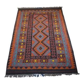 Tribal Afghan Handwoven Kilim Rug - 3′4″ × 5′4″