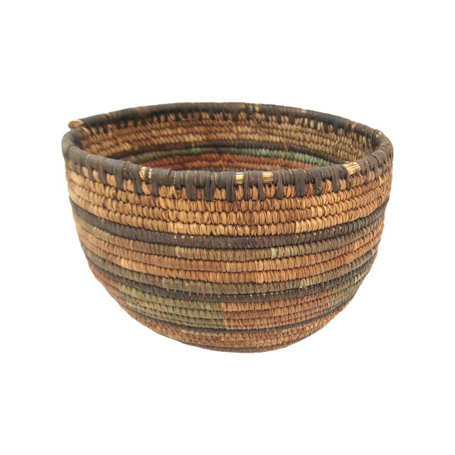 Native American Hand Woven Basket For Sale