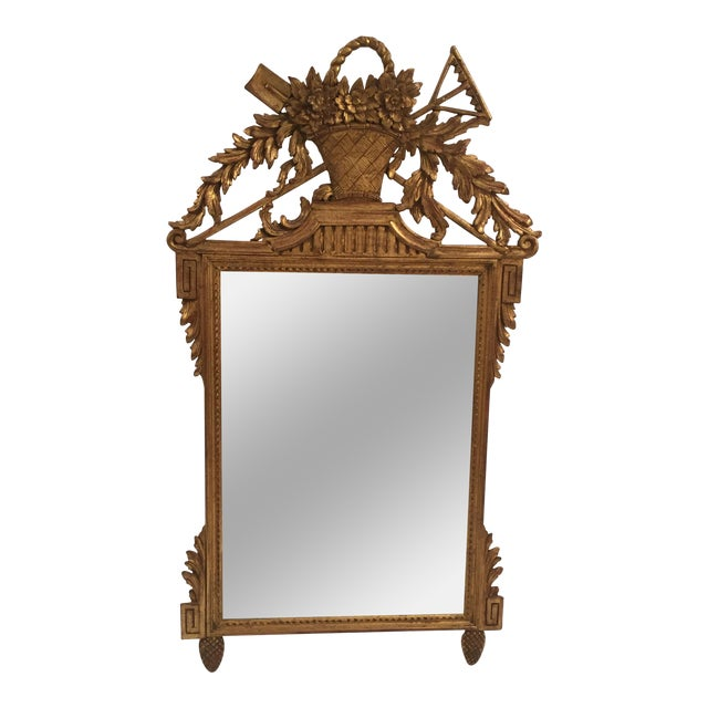 Neoclassical Gold Leaf Mirror - Image 1 of 11