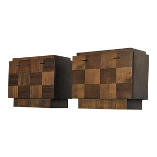 Pair of Lane Staccato Collection Brutalist Nightstands For Sale