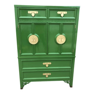 Vintage Chinoiserie Style Dresser by Dixie Furniture For Sale