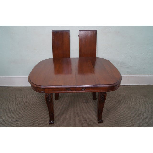 Antique French Art Nouveau Walnut Dining Table For Sale