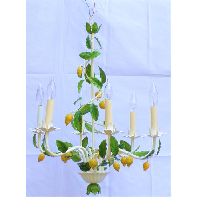 Metal Vintage Italian Lemon Tree Chandelier For Sale - Image 7 of 13