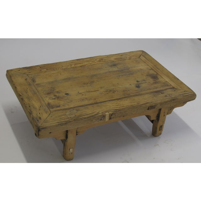 Small Rustic Kang Accent Table or Coffee Table For Sale - Image 4 of 6