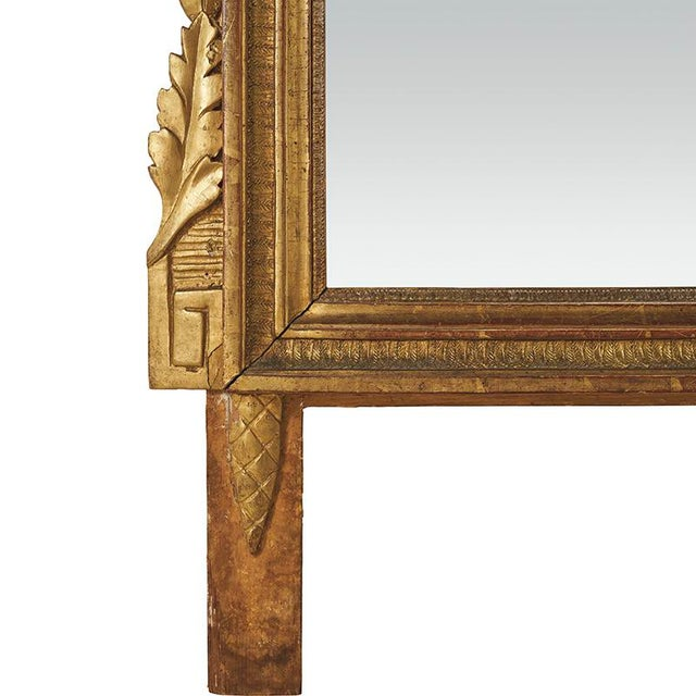 18th Century Louis XVI Carved Gilded Mirror, Circa 1770 For Sale In New York - Image 6 of 7